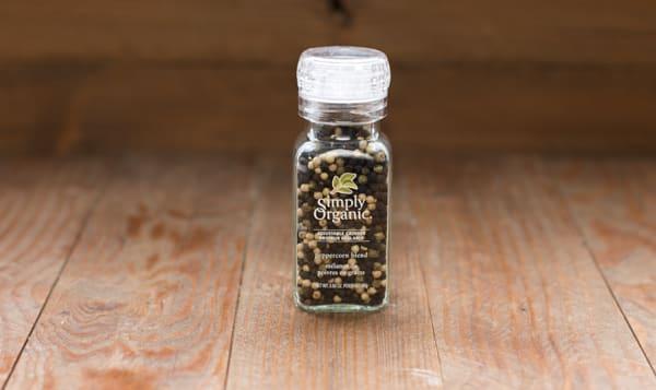 Organic Peppercorn Blend in Glass Bottle w. Grinder