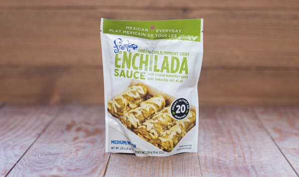 Enchilada Sauce - Green Chile with Roasted Tomatillo + Garlic
