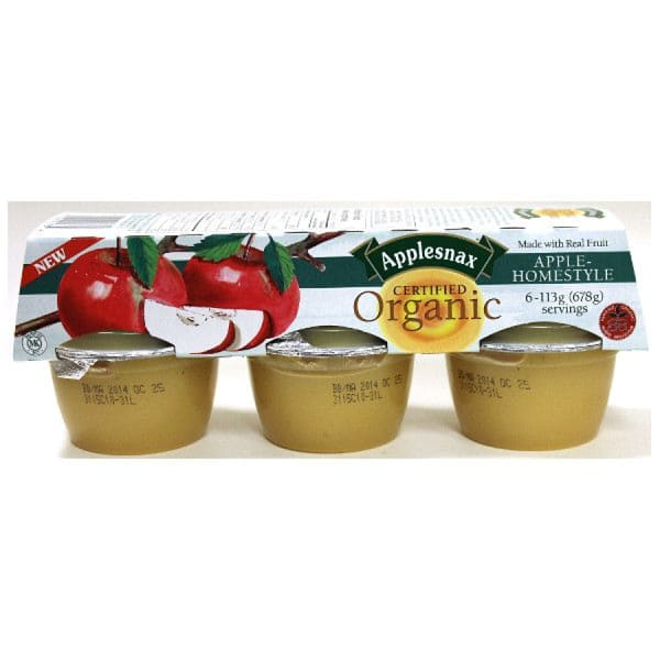 Organic Homestyle Applesauce Cups