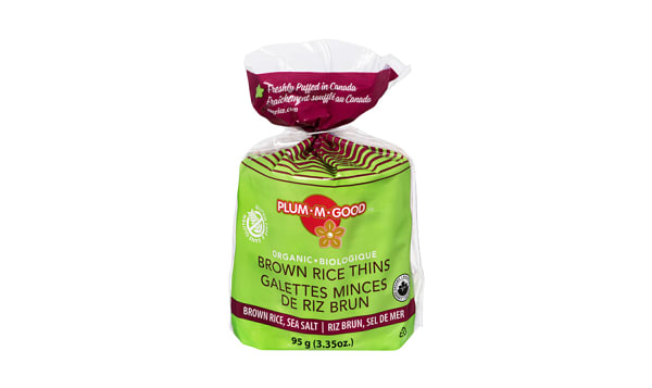 Organic Brown Rice Thins Sea Salt