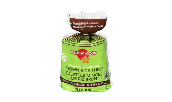 Organic Brown Rice Thins Unsalted