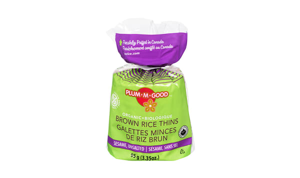 Organic Brown Rice Thins Sesame Unsalted