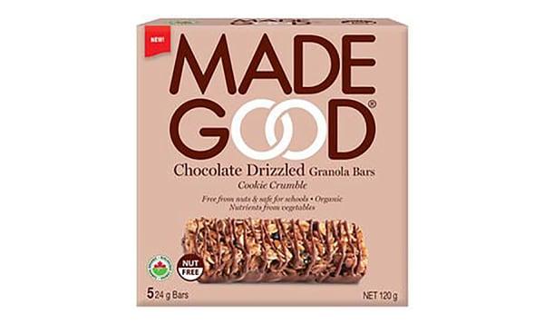 Organic Chocolate Drizzled Cookie Crumble Granola Bars