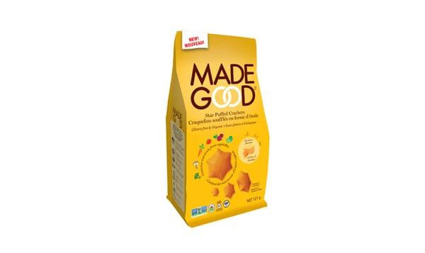 Organic Star Puffed Crackers - Cheddar