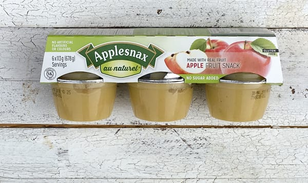 Unsweetened Apple Cups