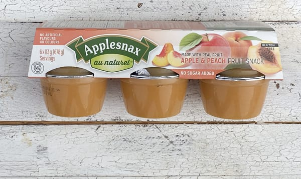 Apple & Peach Cups