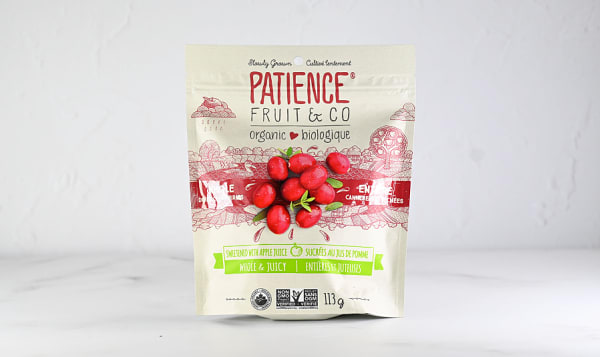 Organic Cranberries Sweetened with Apple Juice