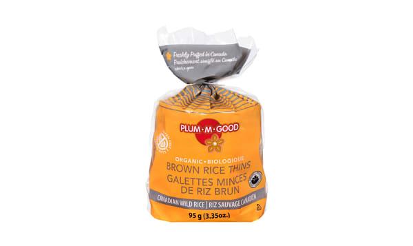 Organic Rice Thins - Wild Rice