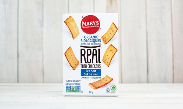 Organic REAL Thin Crackers, Sea Salt