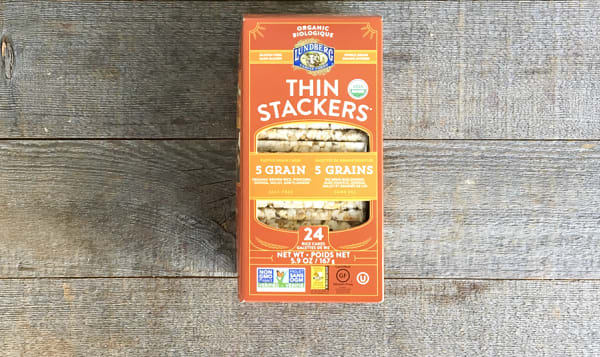 Organic Thin Stackers - 5 Grain : Brown Rice, Popcorn, Quinoa, Millet, Flaxseed