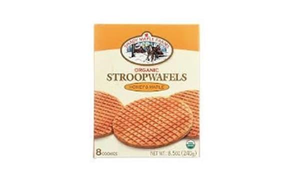 Organic Waffle Cookie - Honey Maple