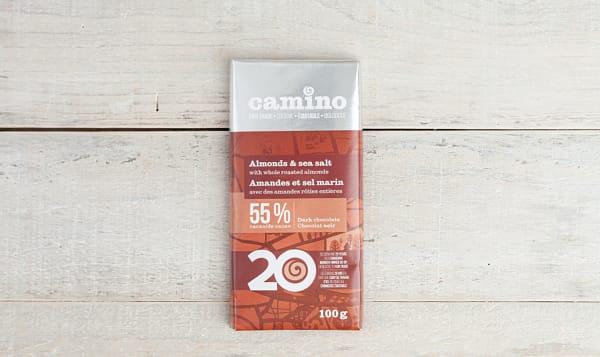 Organic Whole Almonds & Sea Salt Chocolate Bar 55%