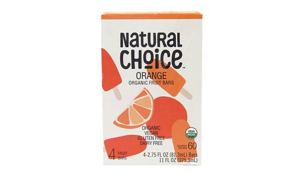 Organic Orange Fruit Bars (Frozen)