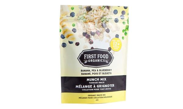 Organic Munch Mix Toddler Snack: Banana