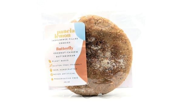 Butterfly - Coconut Cashew Buttercream Filled Cookie (Frozen)