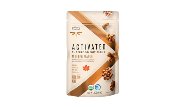 Organic Superfood Nut Blends - Malted Maple, w/Live Cultures