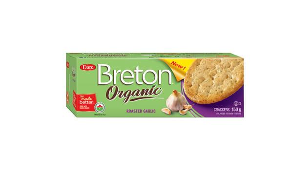 Organic Roasted Garlic Crackers