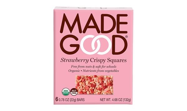 Organic Crispy Squares - Strawberry