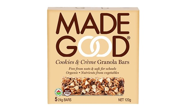 Organic Cookies & Creme Granola Bars