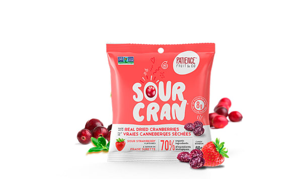 Organic Sour Cran Strawberry Candy