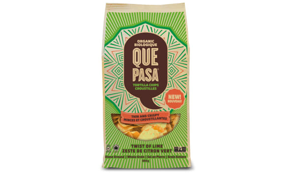 Organic Tortilla Chips - Thin & Crispy - Twist of Lime