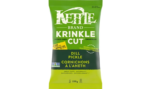 Krinkle Cut Dill Pickle Chips