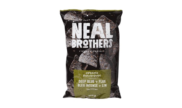 Organic Blue Corn Tortilla Chips With Flax