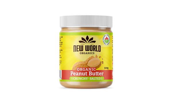 Organic Peanut Butter - Crunchy, Salted
