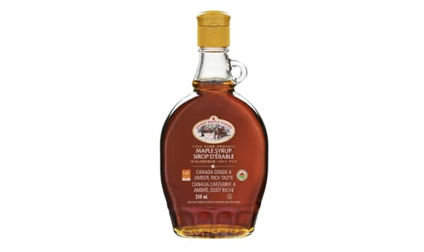 Organic Amber Maple Syrup, Rich