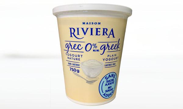 Greek Yogurt - Plain, Lactose Free, No Sugar Added, 0% MF